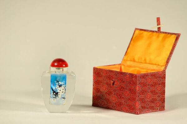 Mπουκαλάκι αρώματος με σχέδιο πουλιά-0