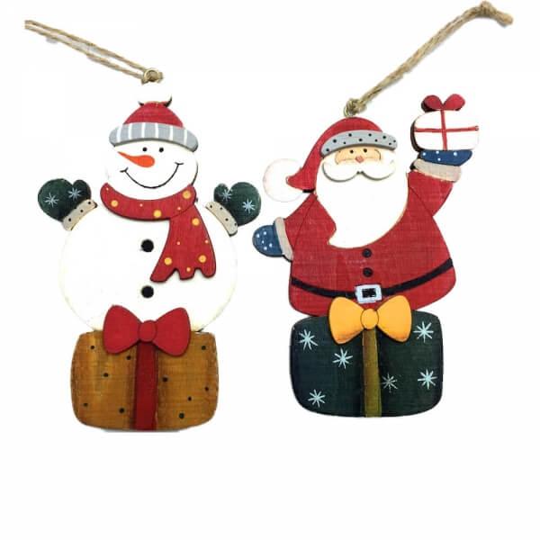 χριστουγεννιάτικα-στολίδια-Άϊ-Βασίλης-και-χιονάνθρωπος-giftland