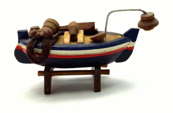 Ξύλινο Καράβι Διακοσμητικό Πυροφάνι 8cm-0