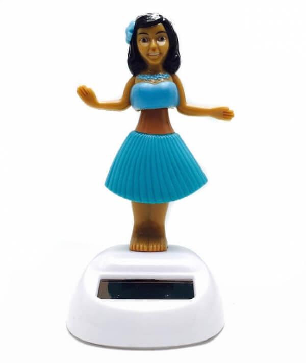 Ηλιακό χορεύτρια με μπλε φόρεμα-0