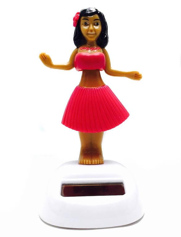 Ηλιακό χορεύτρια με ροζ φόρεμα-0