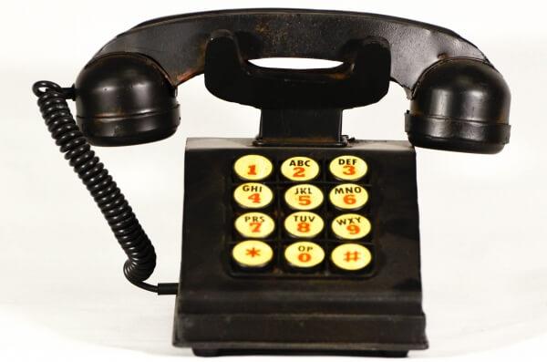 Vintage μαύρο μεταλλικό τηλέφωνο διακοσμητικό & κουμπαράς 23cm-0