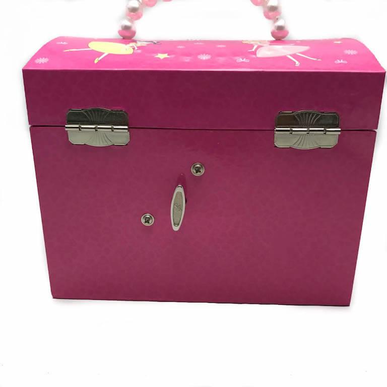 Μουσικό κουτί μπιζουτιέρα μπαλαρίνα με χερούλι-10973
