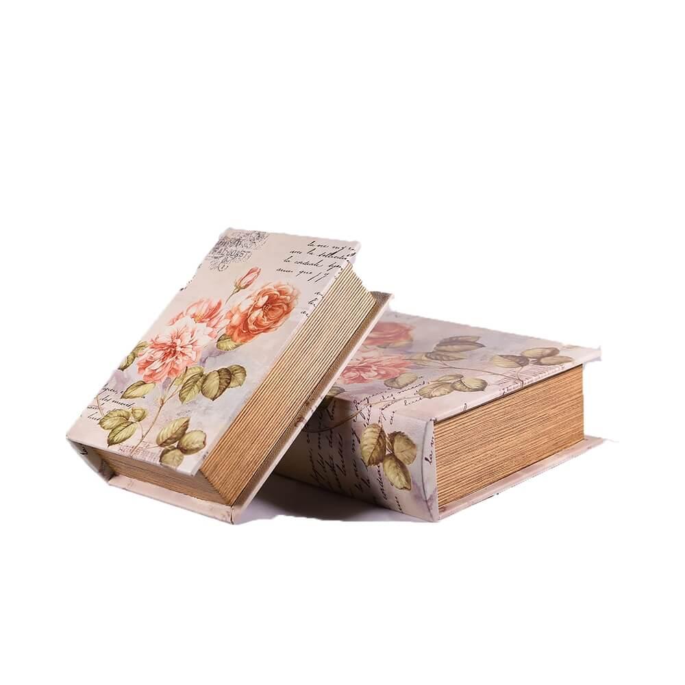 βιβλίο-κουτί-δερμάτινο-σετ-των-2-λουλούδια-27cm-giftland