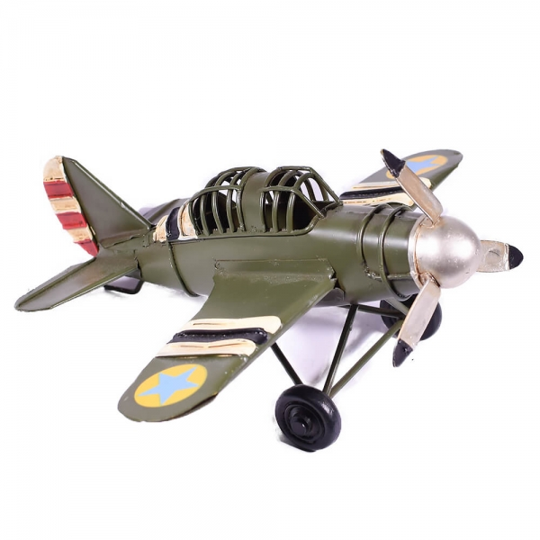 μινιατούρα-vintage-στρατιωτικό-αεροπλάνο-16cm-giftland