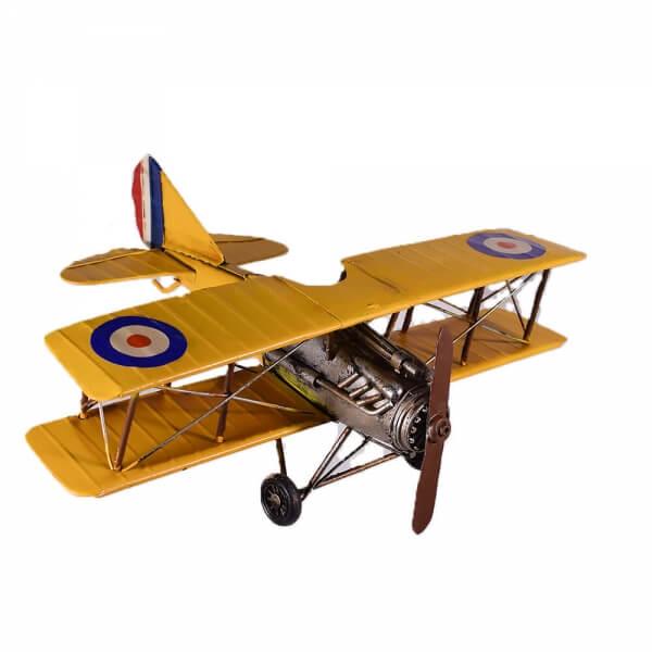 μινιατούρα-ρετρό-μεταλλικό-κίτρινο-αεροπλάνο-35cm-giftland