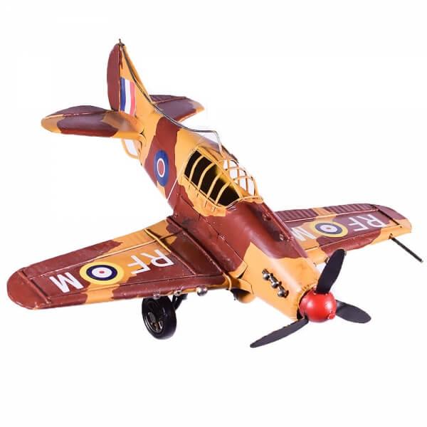 μινιατούρα-vintage-ρετρό-πολεμικό-αεροπλάνο-28cm-giftland