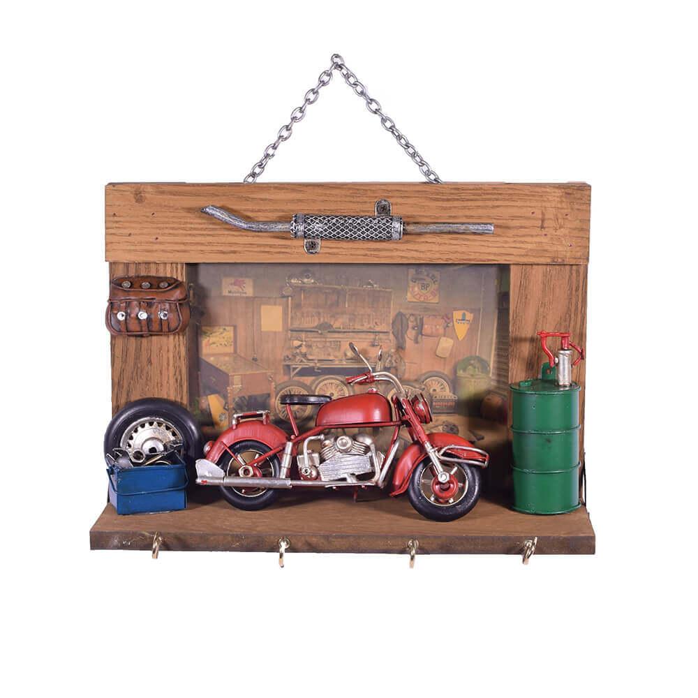 vintage-κλειδοθήκη-τοίχου-κόκκινη-μηχανή-25cm-giftland