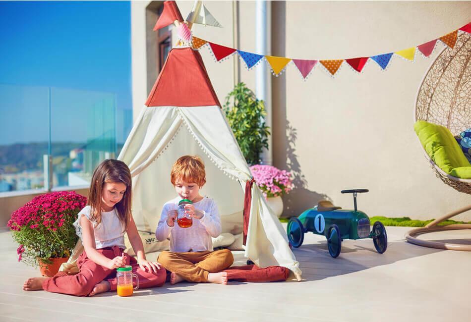 Διαμόρφωση Μπαλκονιού για Παιδιά - Φτάξτε μια cozy γωνιά για τα παιδιά σας - Giftland